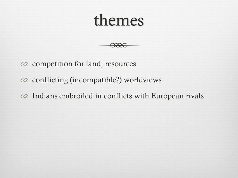 themes competition for land, resources