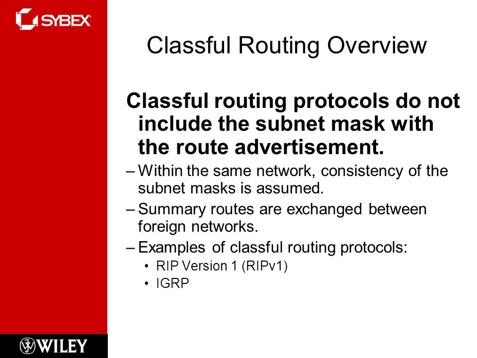 Classful Routing Overview