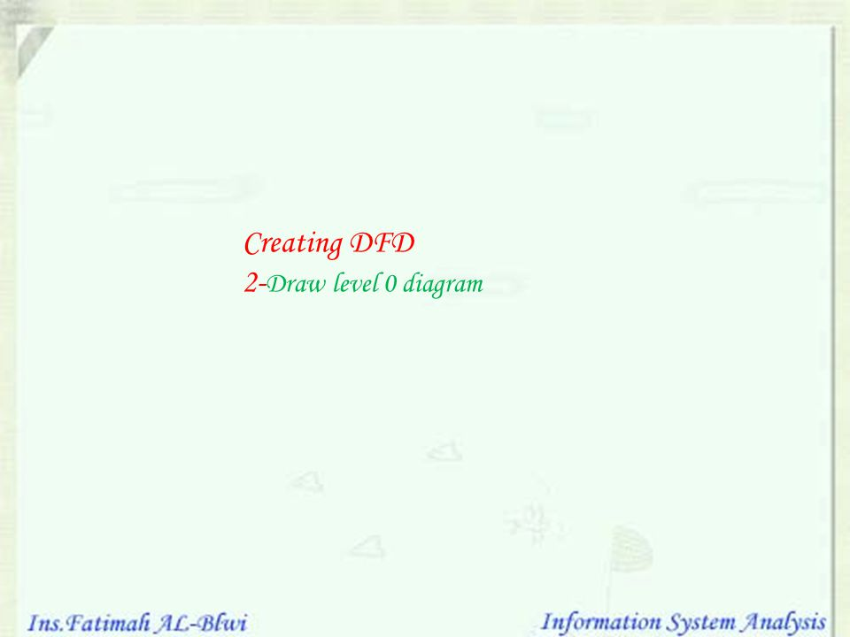 Creating DFD 2-Draw level 0 diagram