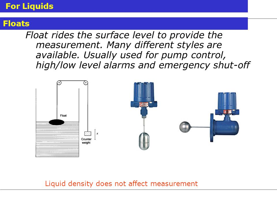 Liquid density does not affect measurement
