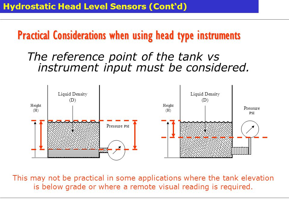 Practical Considerations when using head type instruments