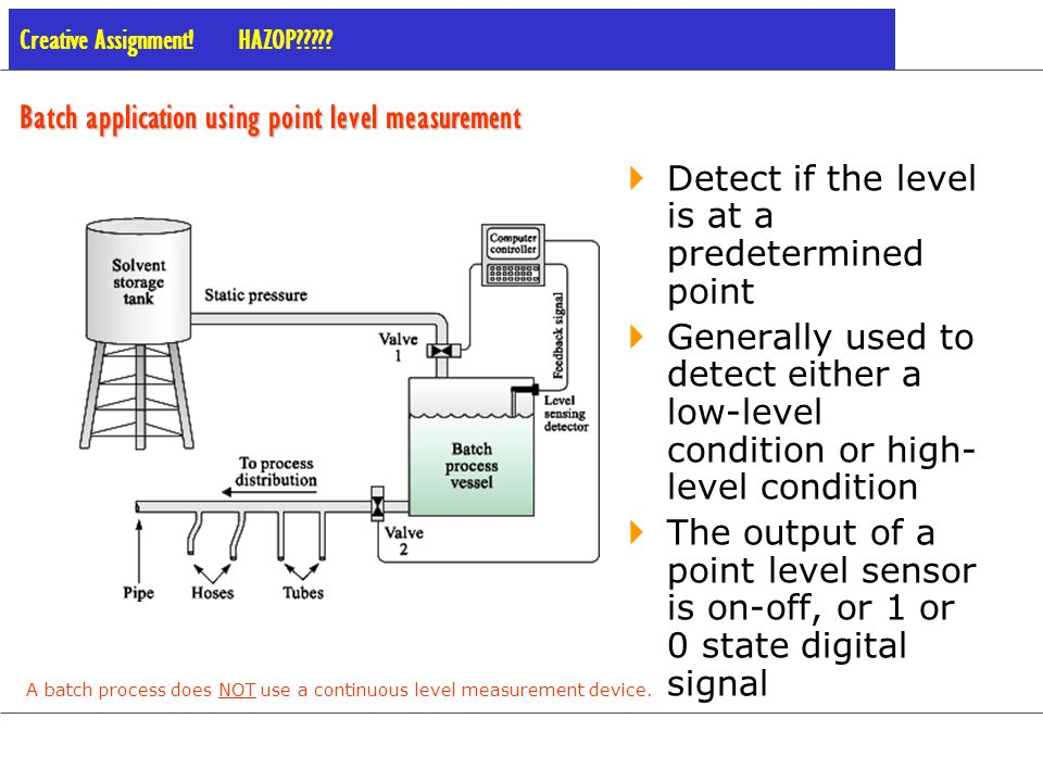 Batch application using point level measurement