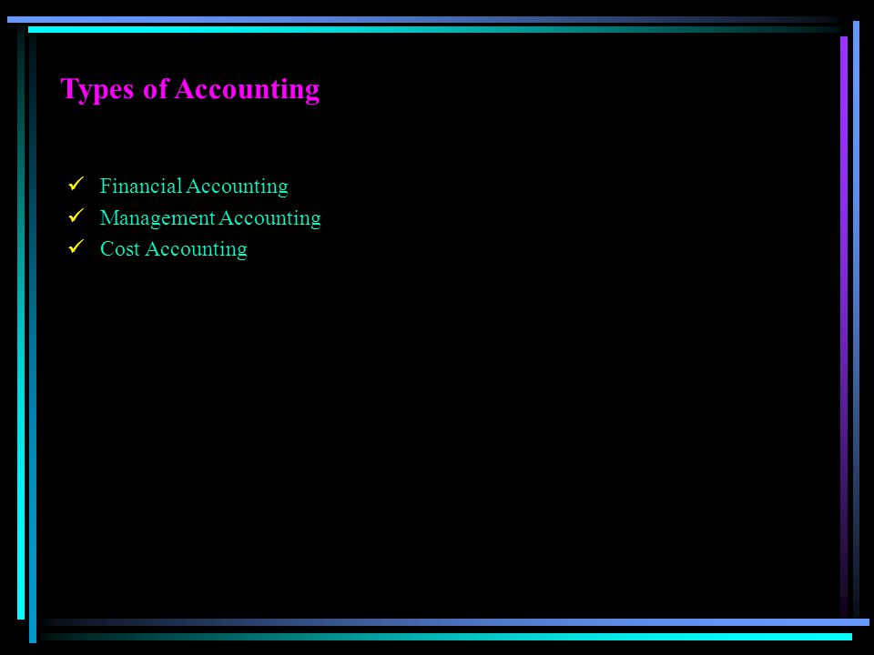 Types of Accounting Financial Accounting Management Accounting
