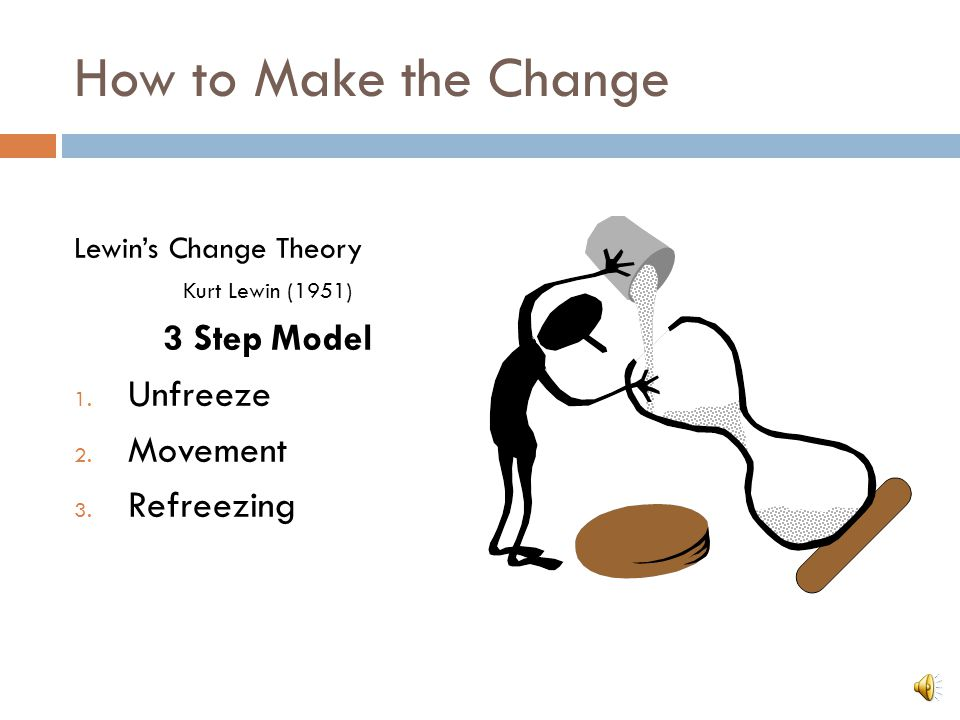 How to Make the Change 3 Step Model Unfreeze Movement Refreezing