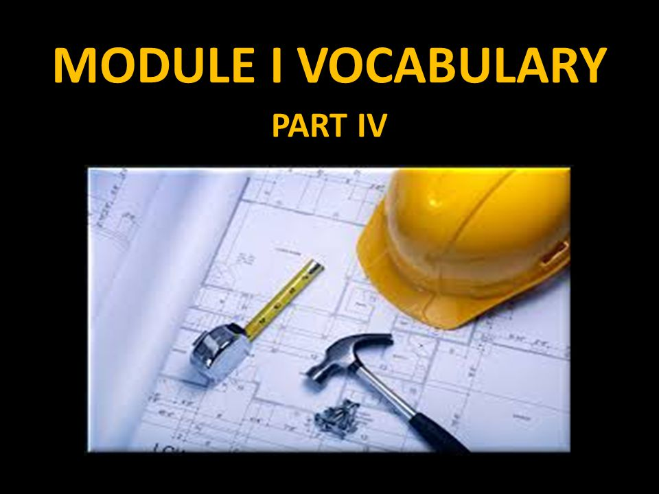 MODULE I VOCABULARY PART IV