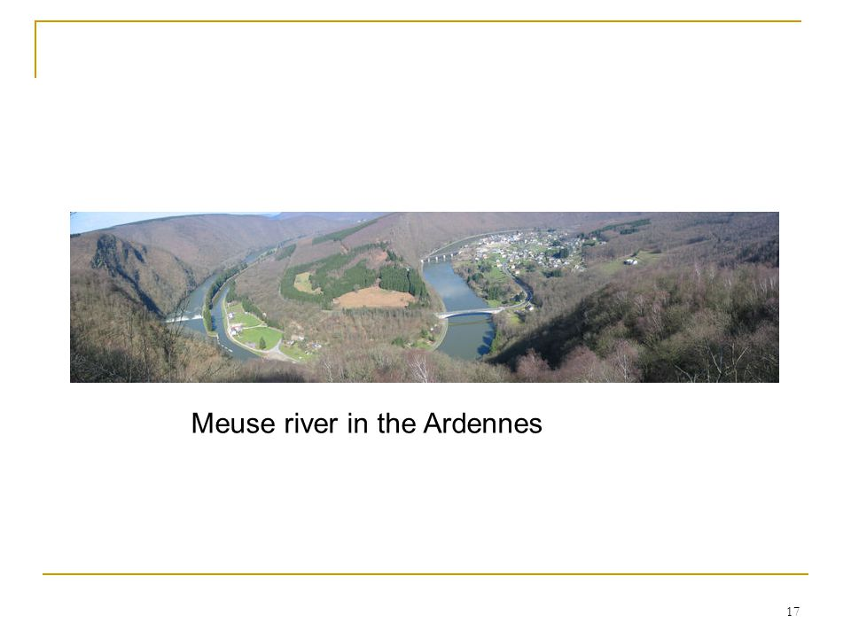 Meuse river in the Ardennes