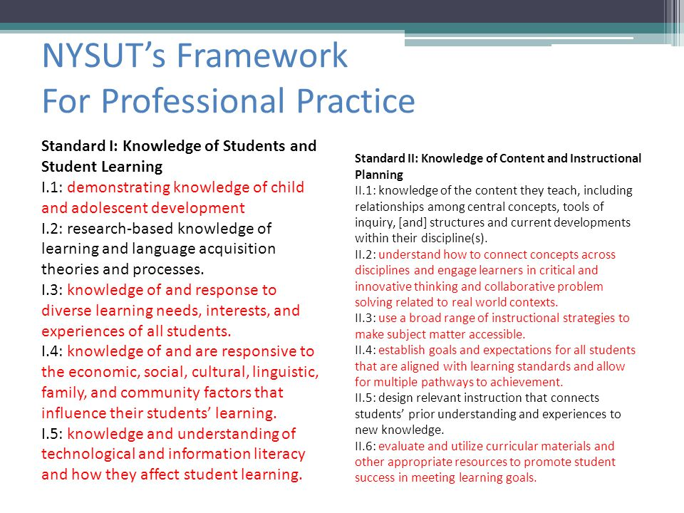 NYSUT's Framework For Professional Practice