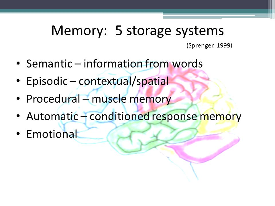 Memory: 5 storage systems