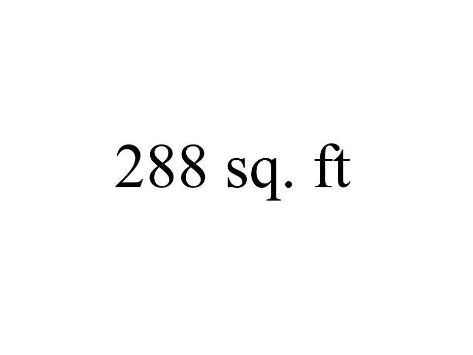 288 sq. ft