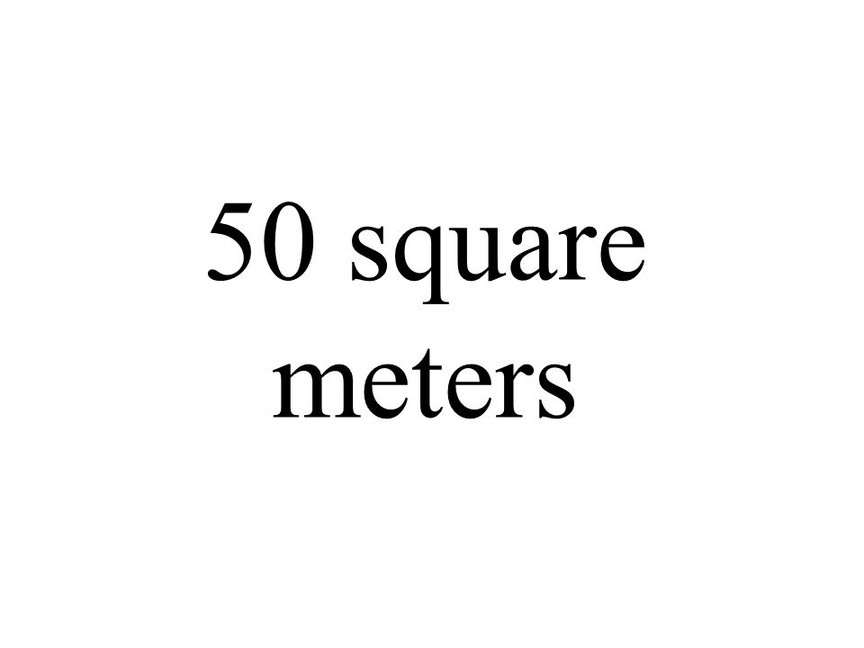 50 square meters