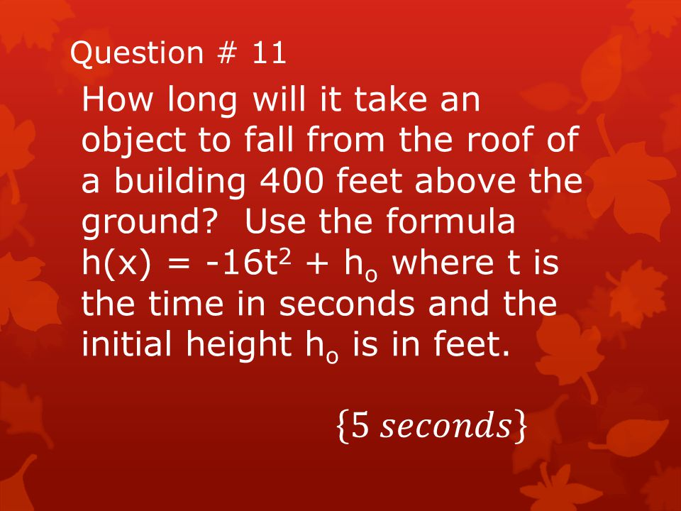 Question # 11