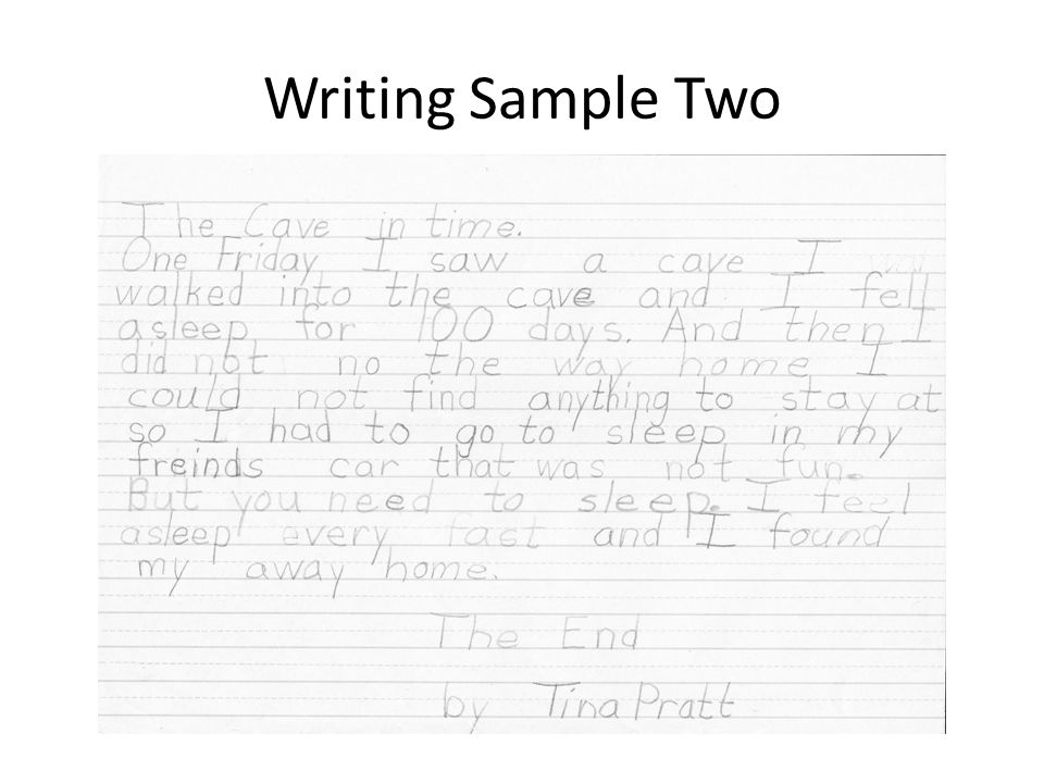 Writing Sample Two