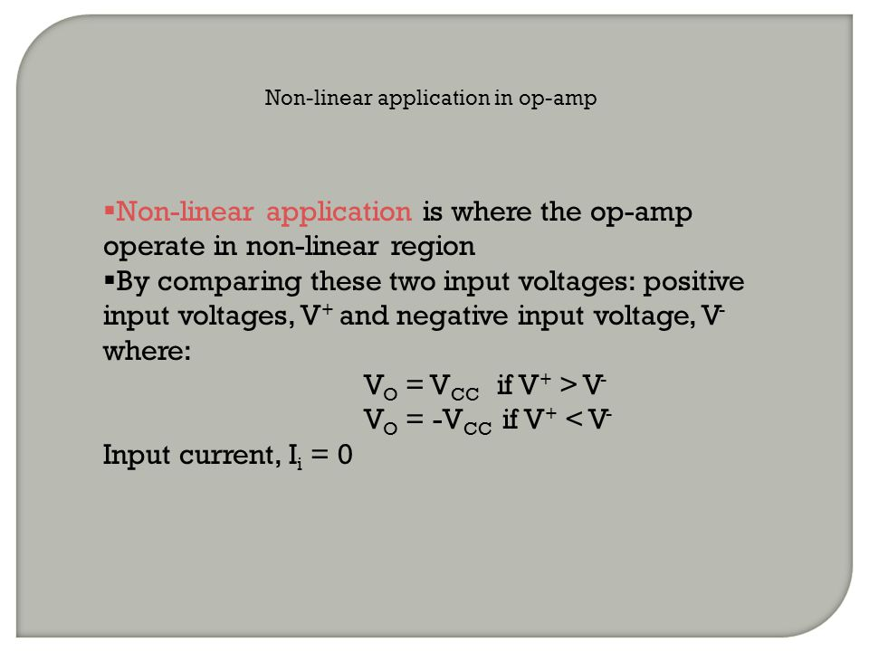 Non-linear application in op-amp