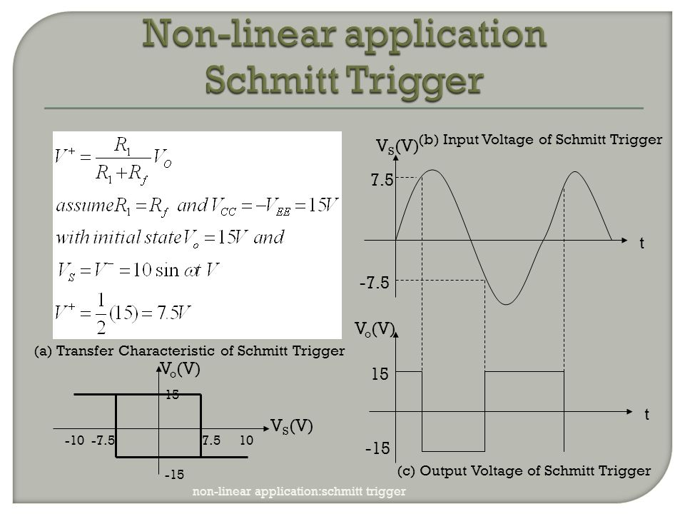 Non-linear application Schmitt Trigger