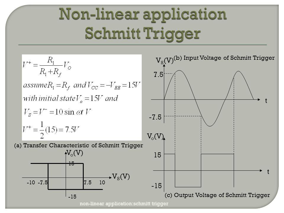 Non-linear application Schmitt Trigger