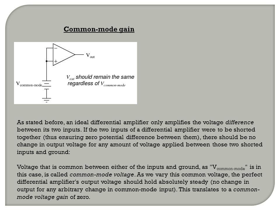 Common-mode gain