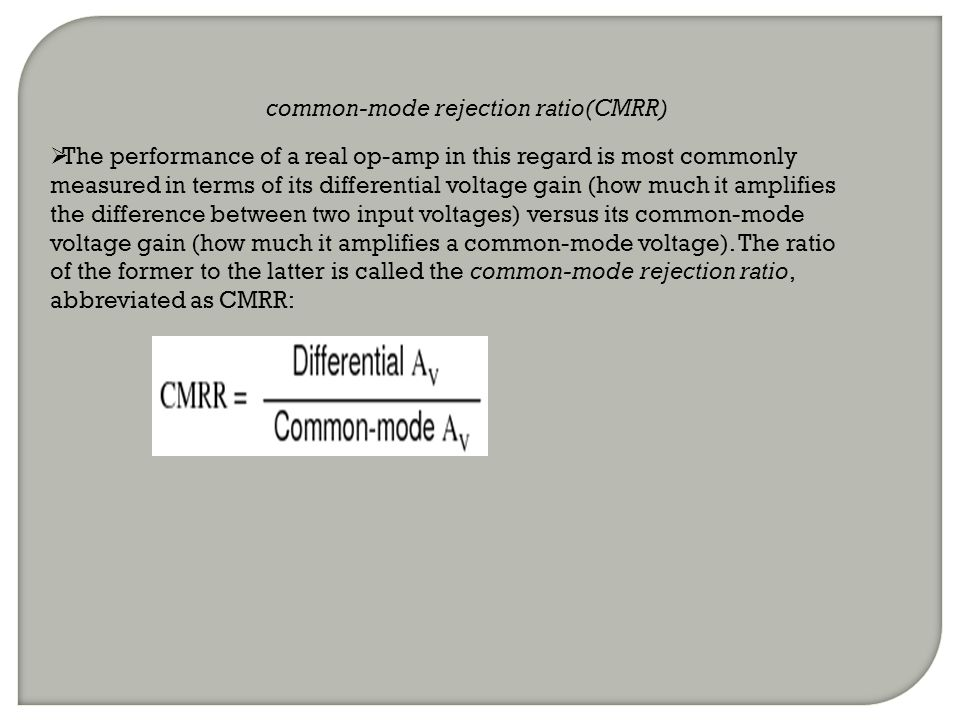 common-mode rejection ratio(CMRR)