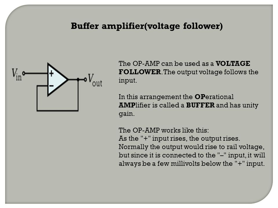 Buffer amplifier(voltage follower)
