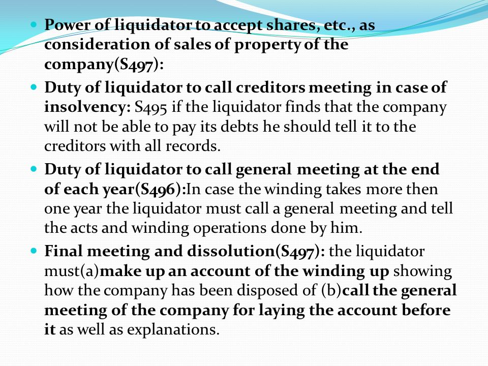 Power of liquidator to accept shares, etc