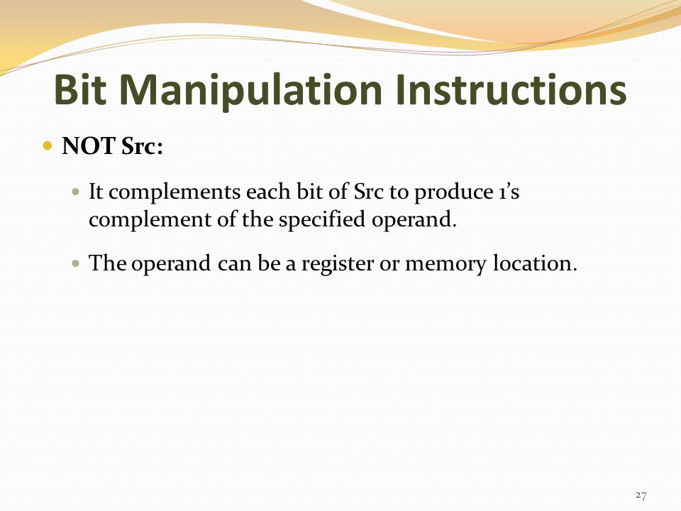 Bit Manipulation Instructions