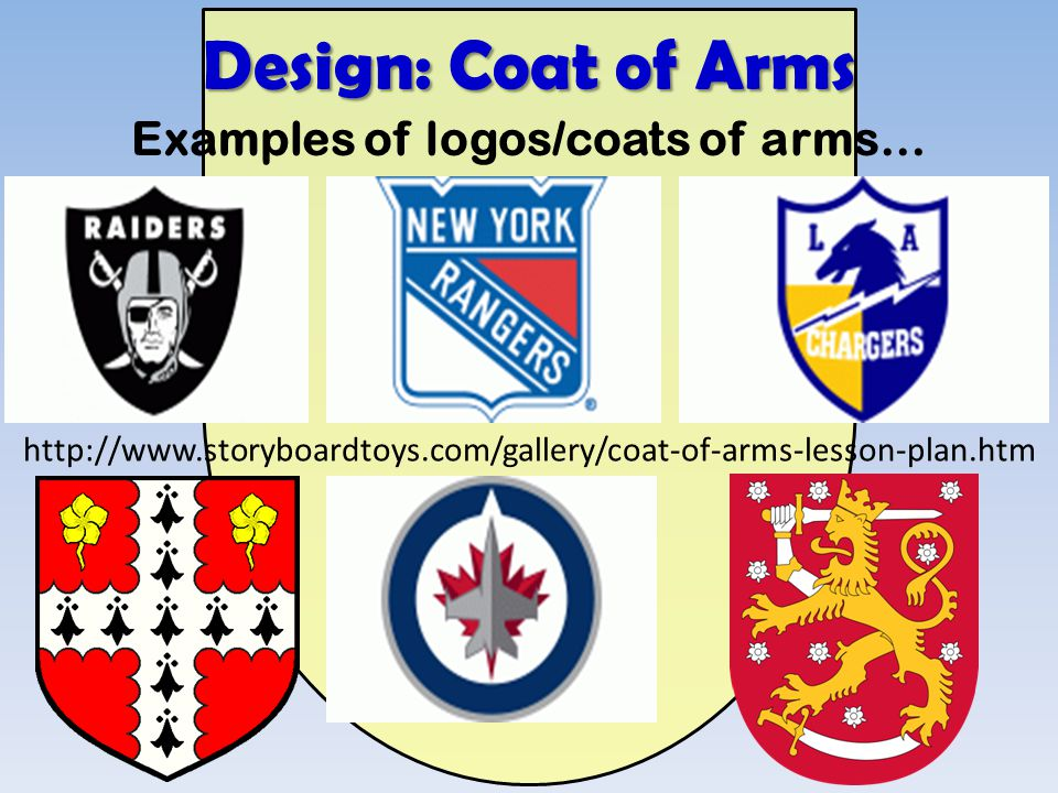 Examples of logos/coats of arms…