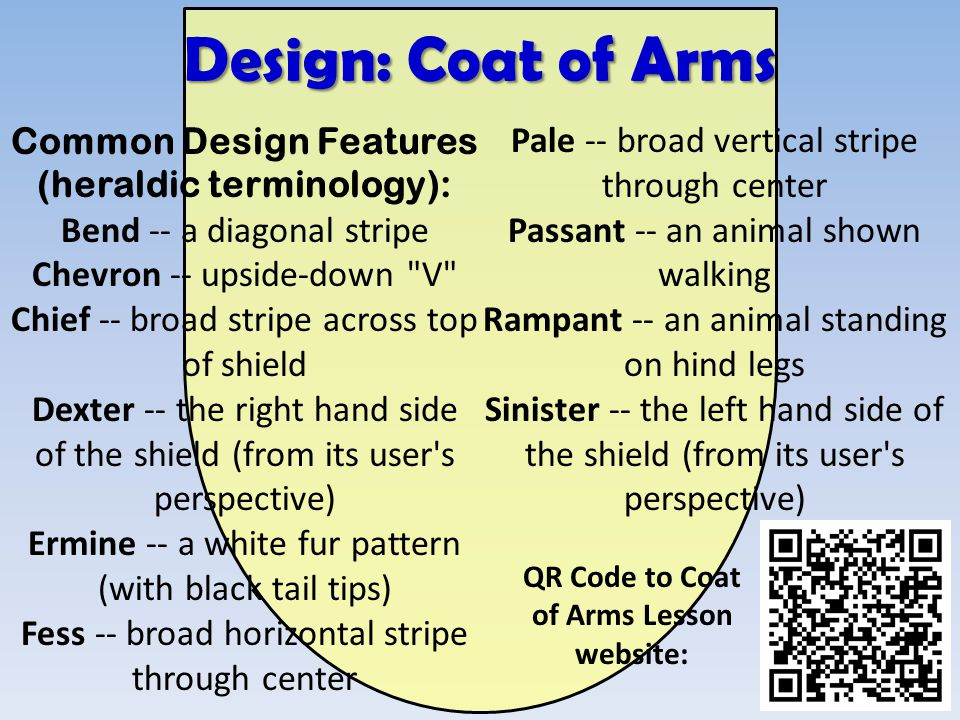 of Arms Lesson website: