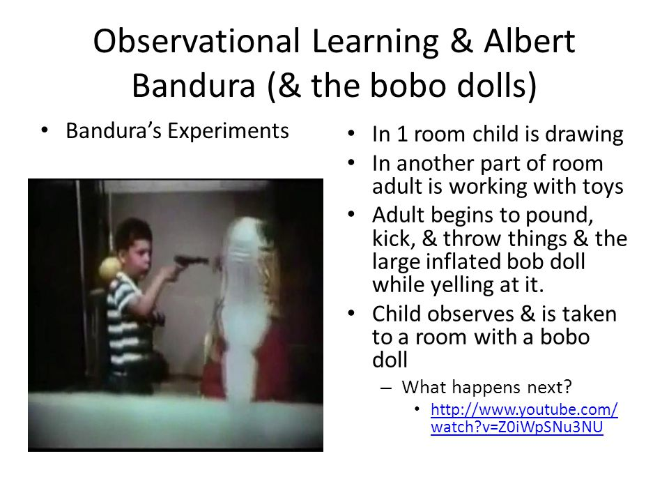 Observational Learning & Albert Bandura (& the bobo dolls)