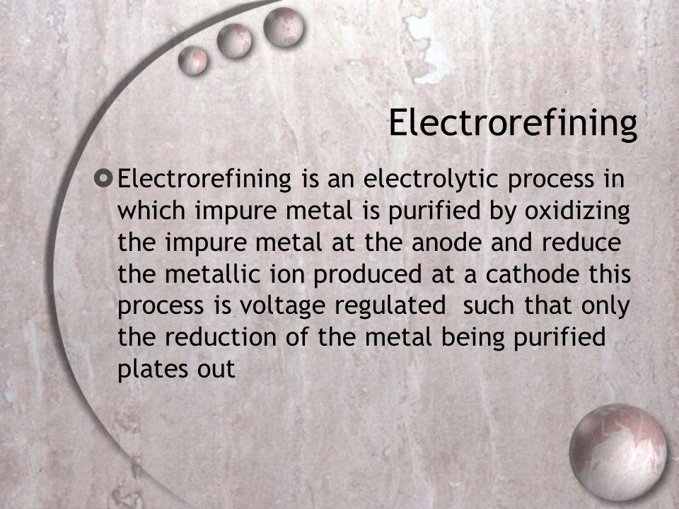 Electrorefining