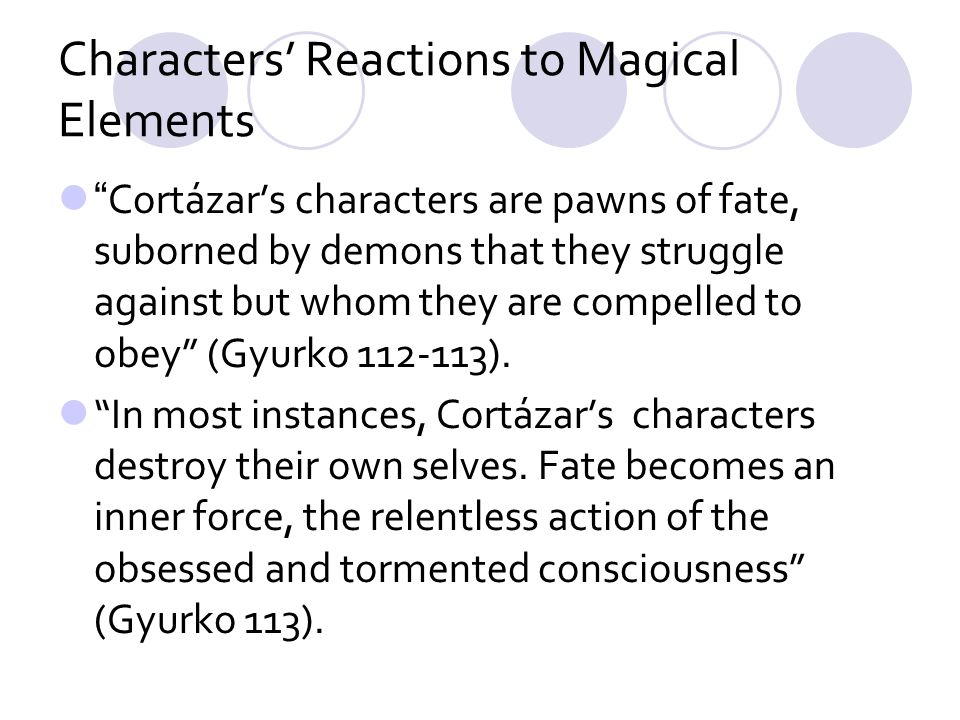 Characters' Reactions to Magical Elements