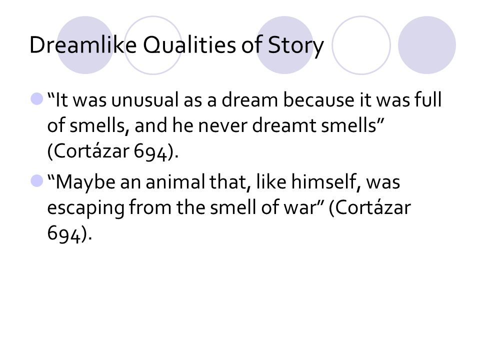 Dreamlike Qualities of Story