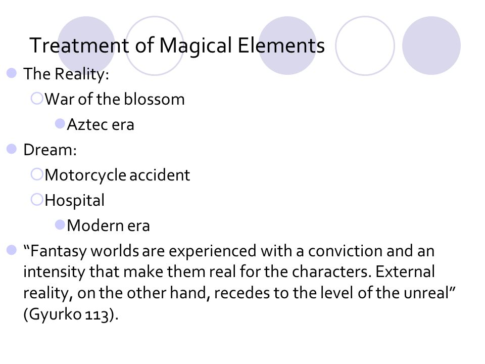 Treatment of Magical Elements