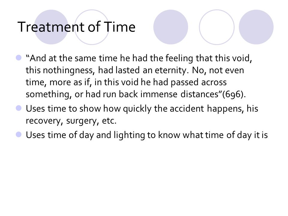 Treatment of Time