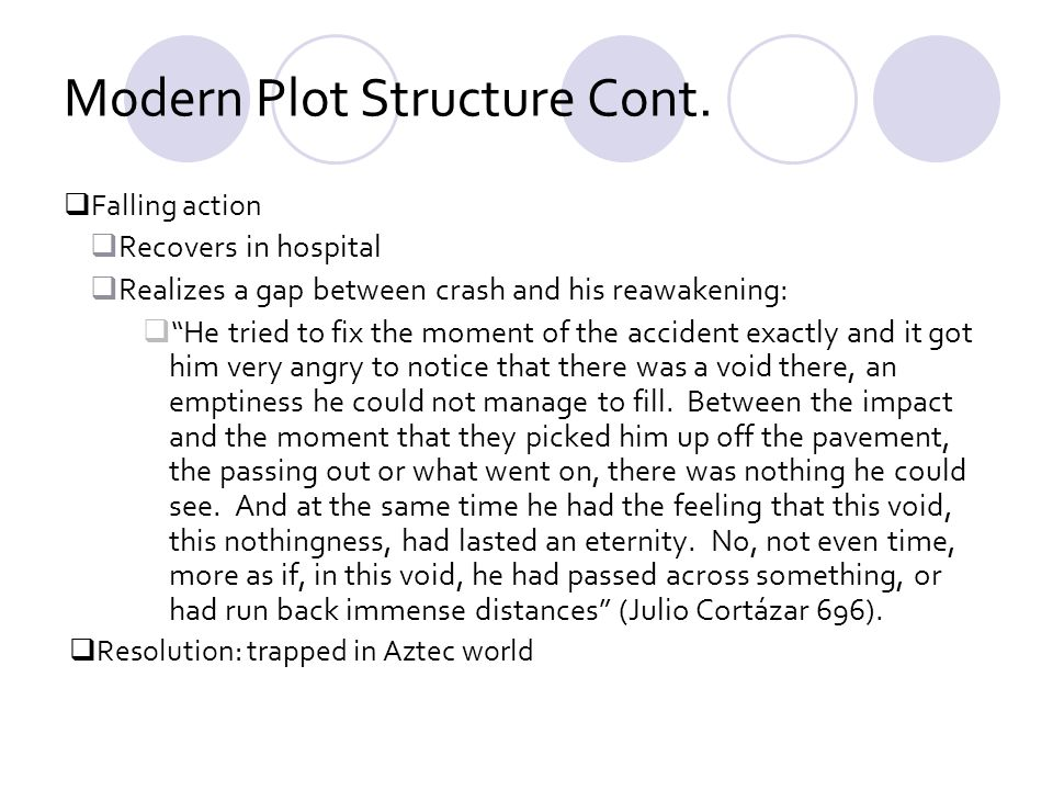 Modern Plot Structure Cont.