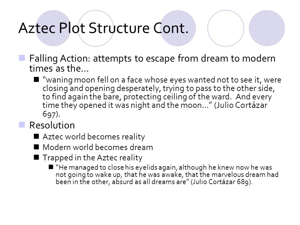 Aztec Plot Structure Cont.