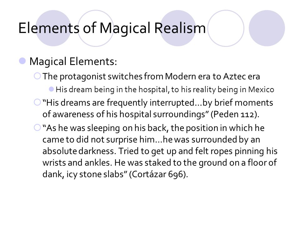Elements of Magical Realism