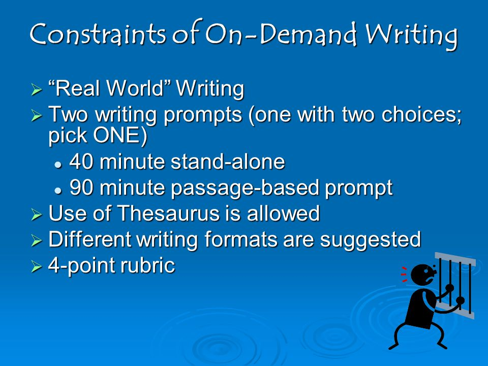 Constraints of On-Demand Writing