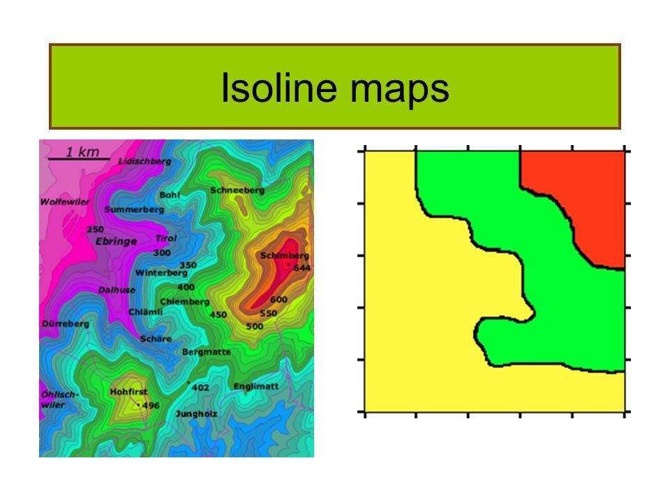 Isoline maps