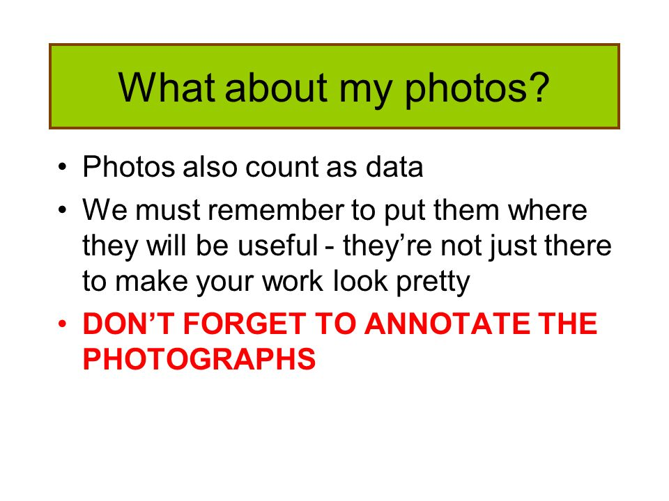 What about my photos Photos also count as data