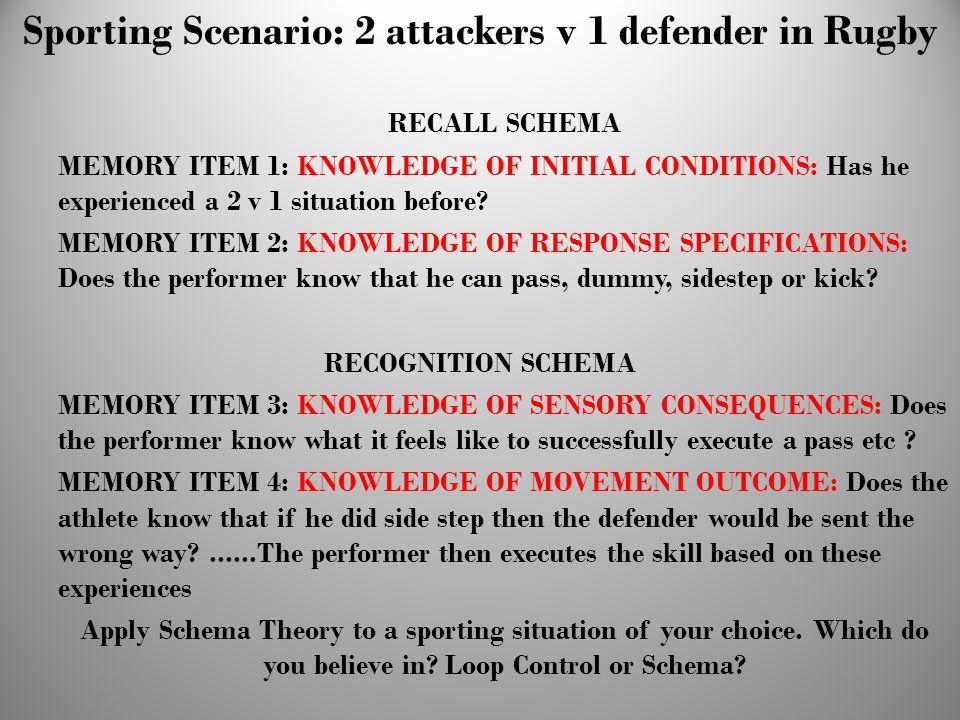 Sporting Scenario: 2 attackers v 1 defender in Rugby