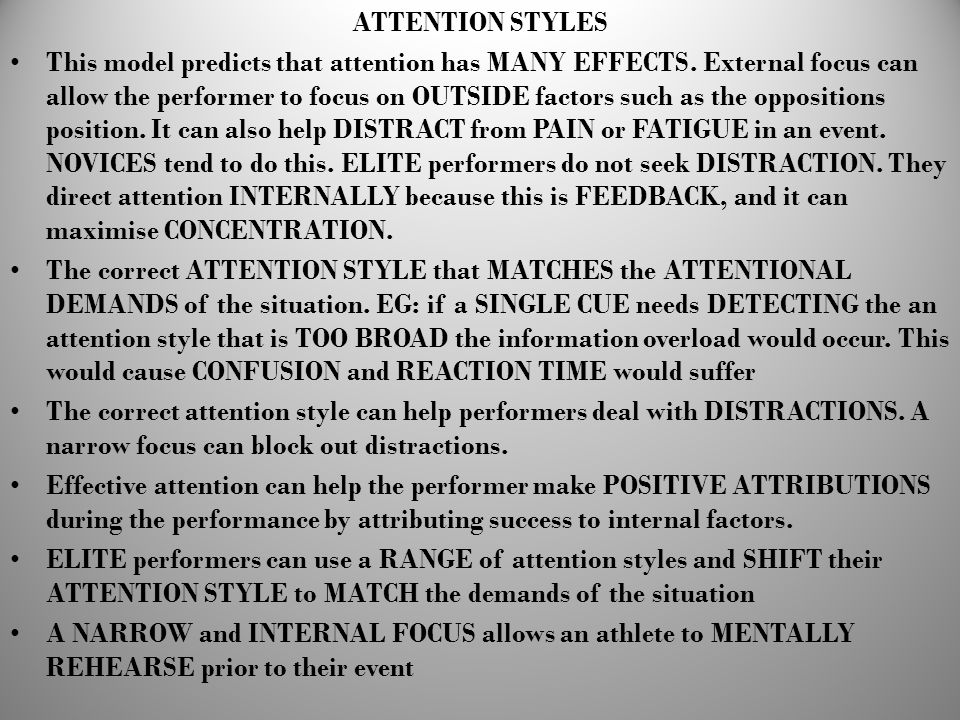 ATTENTION STYLES