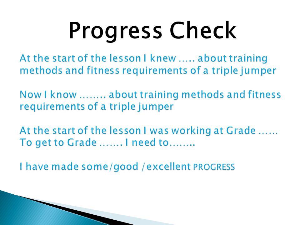 Progress Check