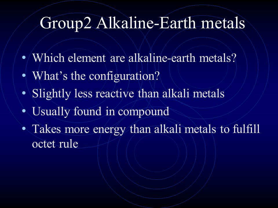 Group2 Alkaline-Earth metals
