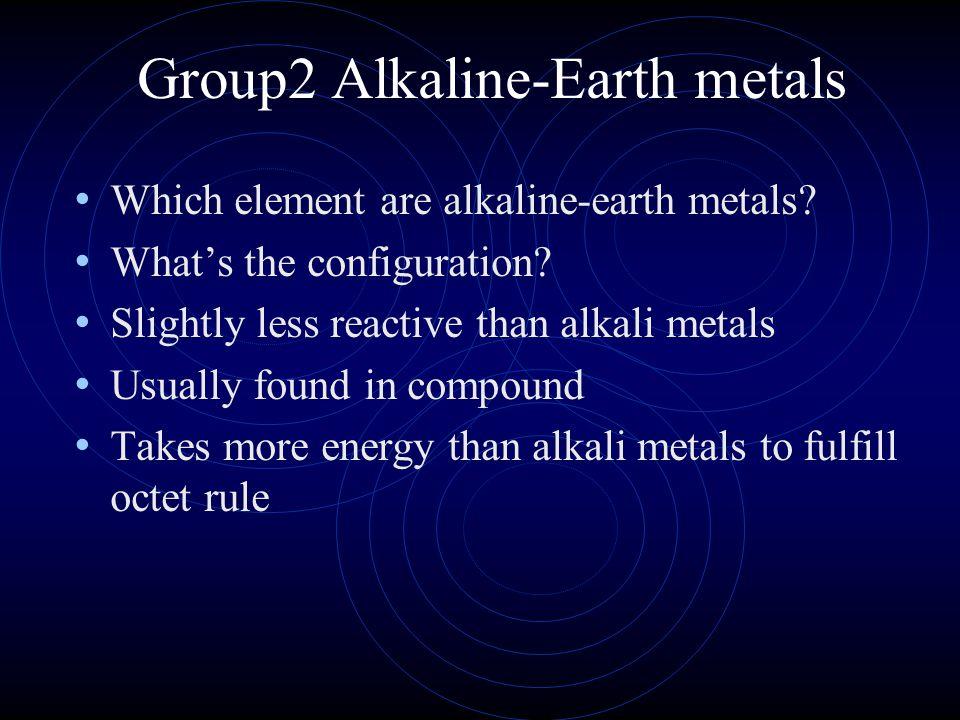 Group2 Alkaline-Earth metals