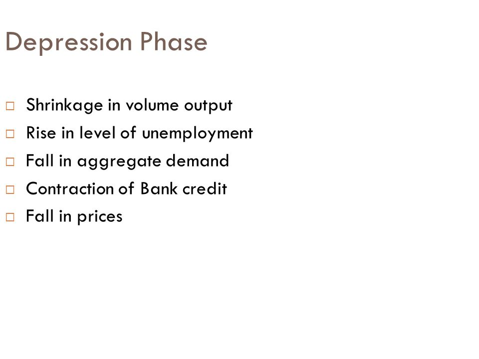 Depression Phase Shrinkage in volume output