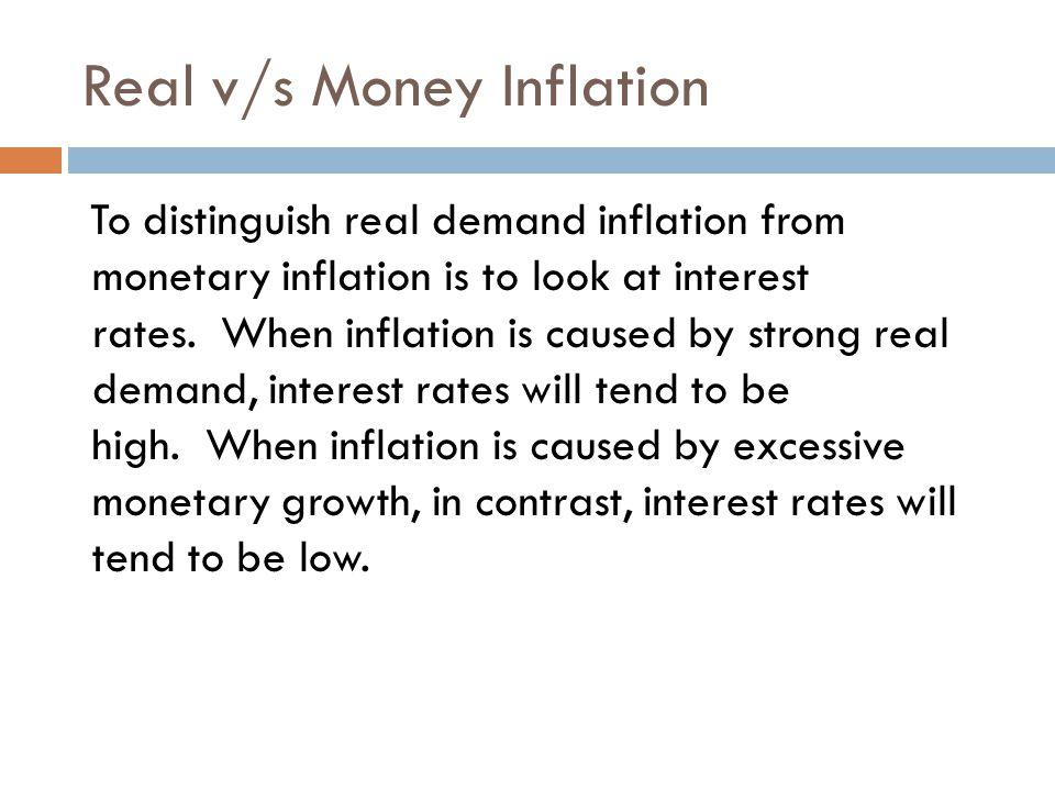 Real v/s Money Inflation