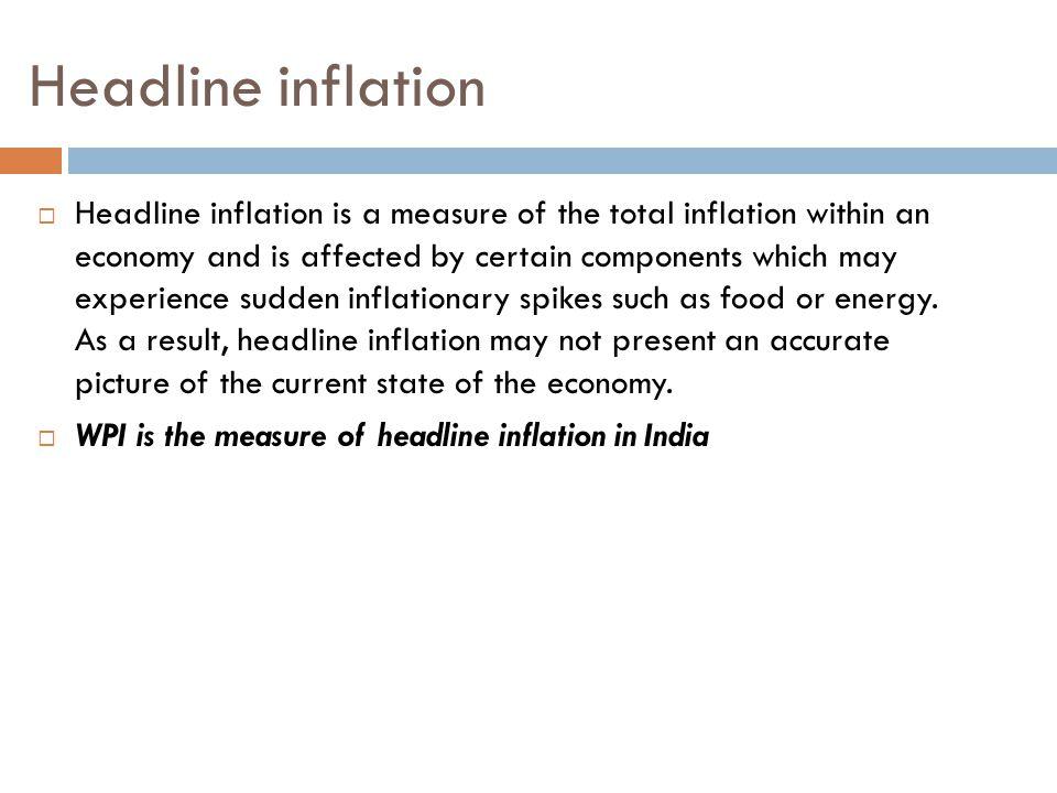 Headline inflation