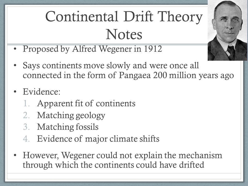Continental Drift Theory Notes