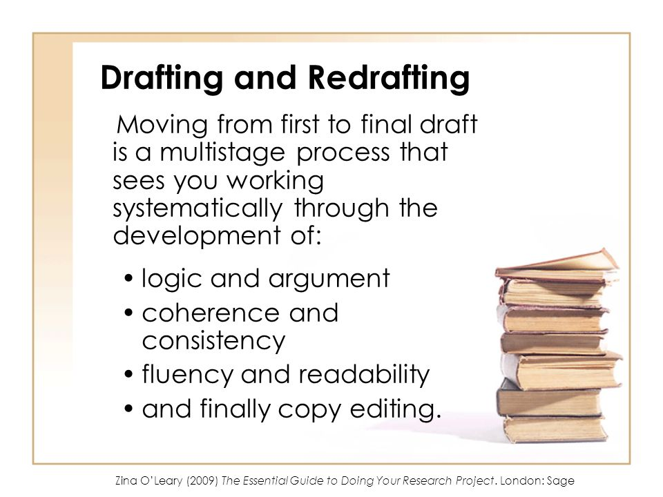 Drafting and Redrafting