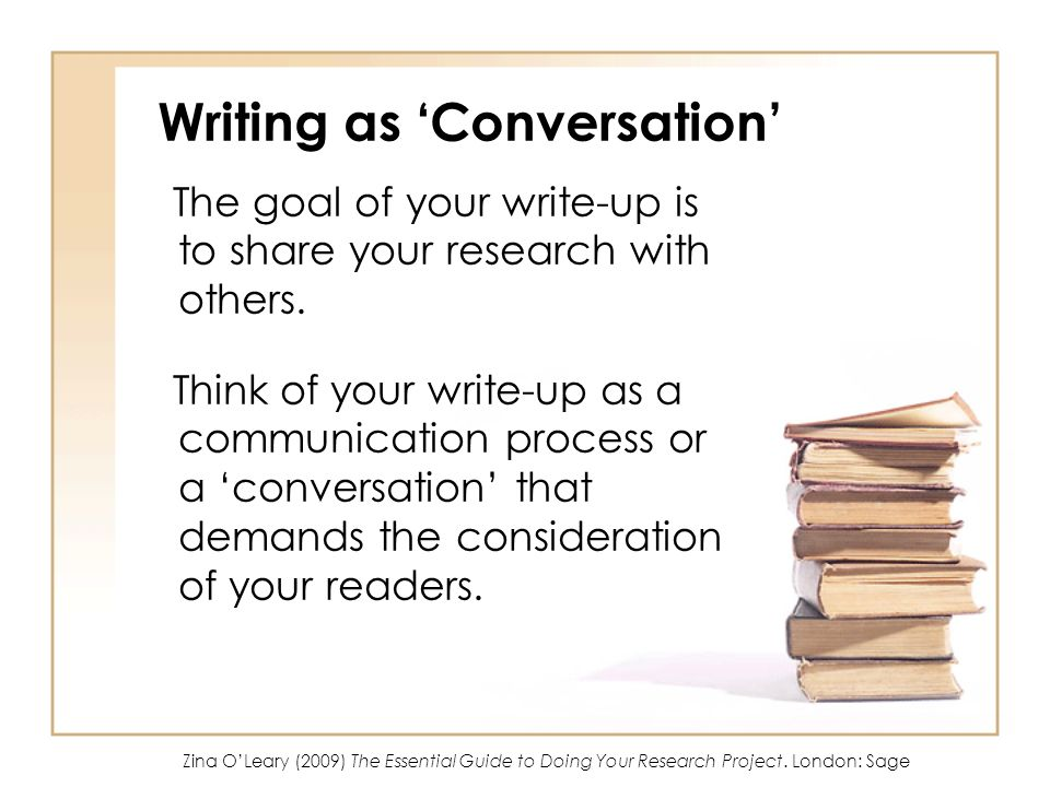 Writing as 'Conversation'