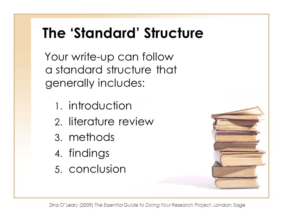 The 'Standard' Structure